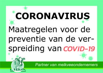 Maatregelen voor de preventie van de verspreiding van het Coronavirus | Liba Advisering
