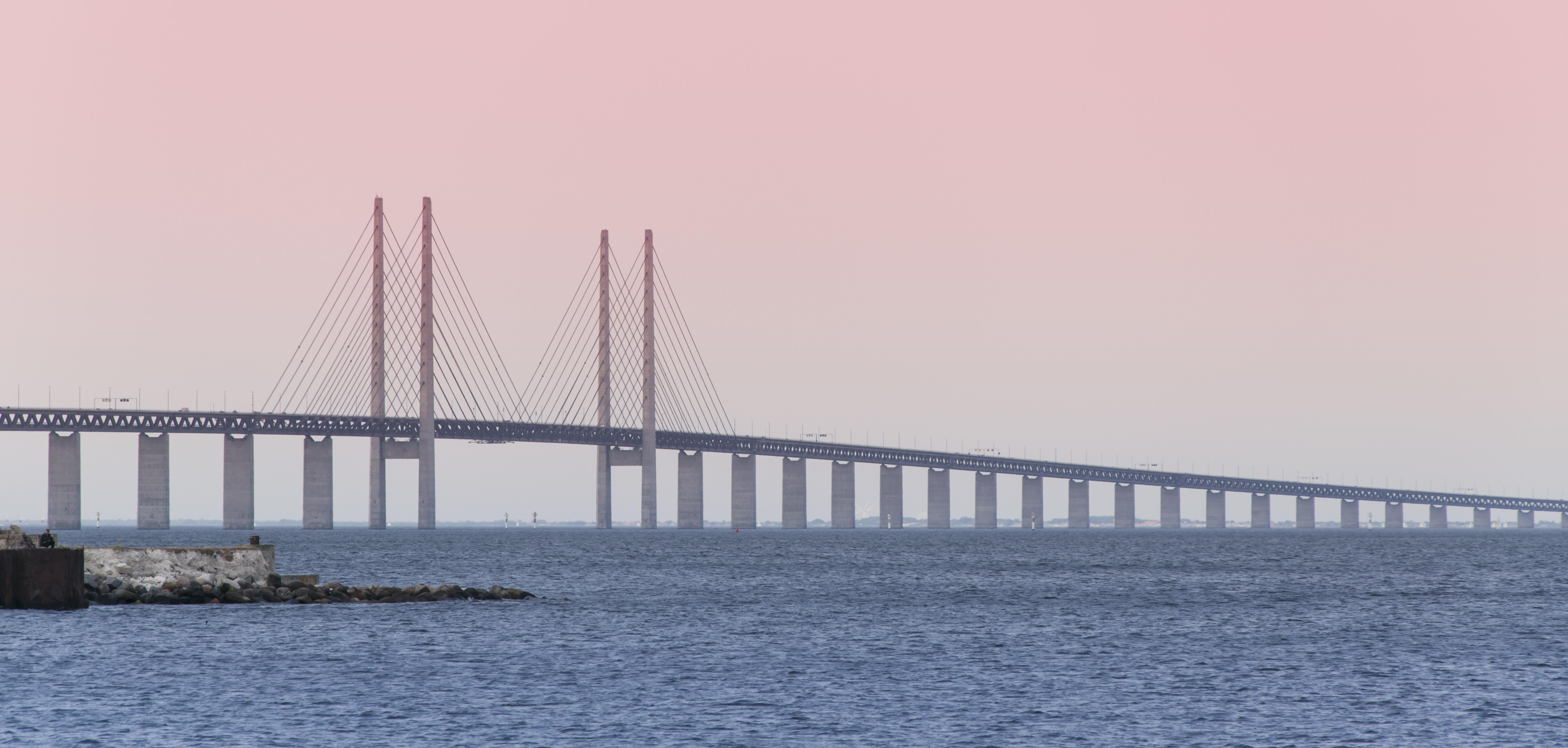"""Oresund Bridge tussen Denemarken en Zweden, bekend van de serie """"The Bridge"""""""